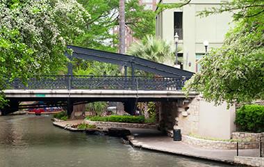 Bridge Walkway Near Our RV Park In San Antonio