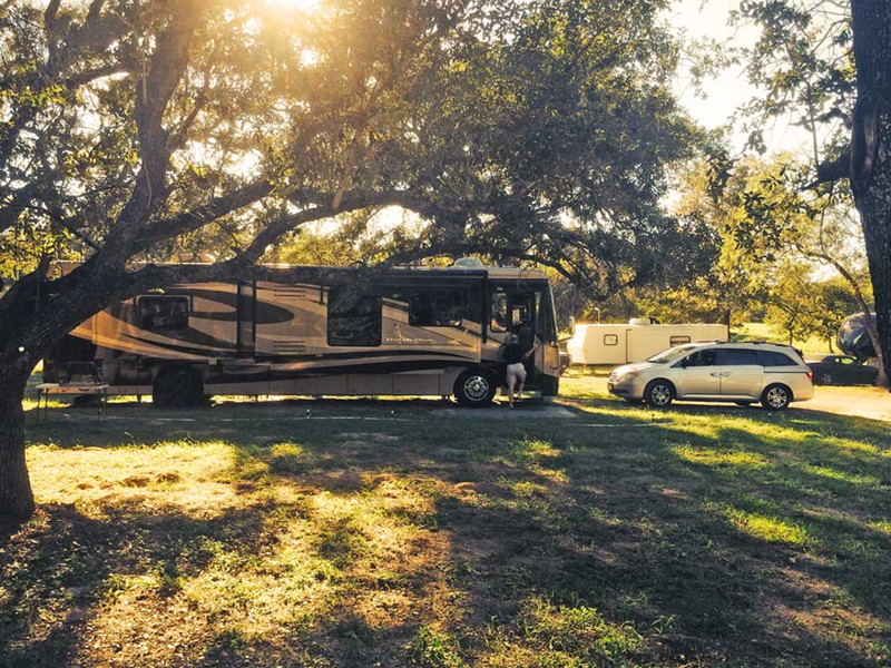 Larged RV Parked At Our RV Park In San Antonio