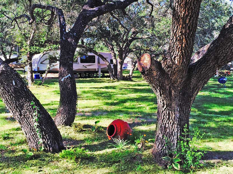 RV Parking Spot With BBQ Area AT Our RV Park In San Antonio
