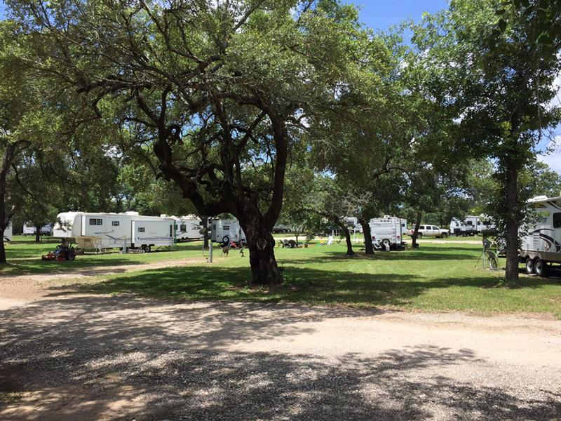 RV Parking Spots At Our RV Park In San Antonio