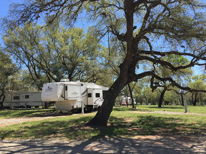 Various RVs At Our RV Park In San Antonio