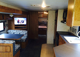 Inside an RV You Can Rent at an RV Park